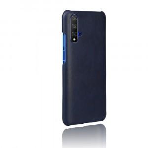 Чехол накладка текстурная отделка Кожа для Huawei Honor 20 Синий