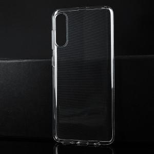 Силиконовый глянцевый транспарентный чехол для Samsung Galaxy A50