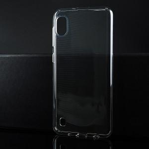 Силиконовый глянцевый транспарентный чехол для Samsung Galaxy A10