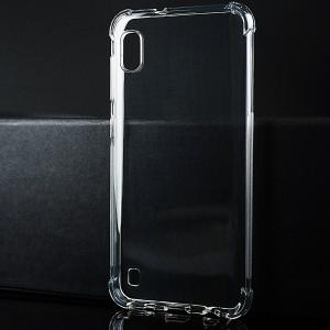 Силиконовый глянцевый транспарентный чехол с усиленными углами для Samsung Galaxy A10