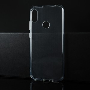 Силиконовый глянцевый транспарентный чехол для Huawei Y6 (2019)/Honor 8A