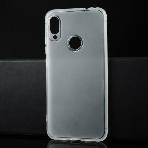 Силиконовый матовый полупрозрачный чехол для Xiaomi RedMi Note 7 Белый
