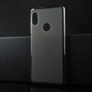 Силиконовый матовый полупрозрачный чехол для XIaomi RedMi Note 5/5 Pro Черный
