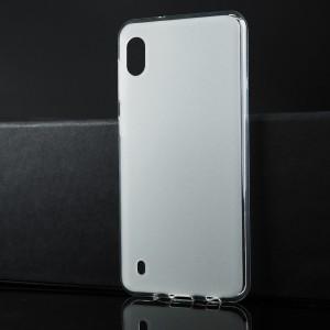 Силиконовый матовый полупрозрачный чехол для Samsung Galaxy A10 Белый