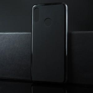 Силиконовый матовый полупрозрачный чехол для Huawei P Smart (2019)/Honor 10 Lite Черный