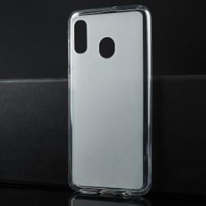 Силиконовый матовый полупрозрачный чехол для Samsung Galaxy A20/A30