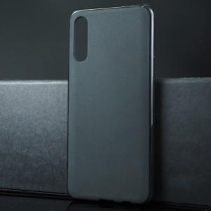 Силиконовый матовый непрозрачный чехол для Samsung Galaxy A50 Черный