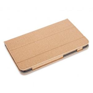 Сегментарный чехол книжка подставка с рамочной защитой экрана и тканевым покрытием для Xiaomi Mi Pad 4 Бежевый