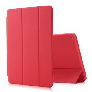 Сегментарный чехол книжка подставка на непрозрачной поликарбонатной основе для Ipad (2018) Красный