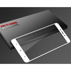 Полноэкранное ультратонкое износоустойчивое сколостойкое олеофобное защитное стекло-пленка для Xiaomi RedMi Note 4X Белый