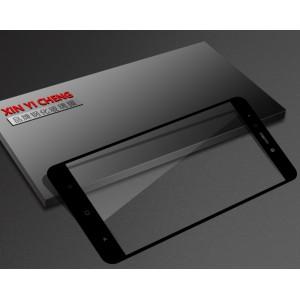 Полноэкранное ультратонкое износоустойчивое сколостойкое олеофобное защитное стекло-пленка для Xiaomi RedMi Note 4X Черный