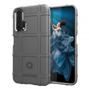 Силиконовый матовый непрозрачный чехол с текстурным покрытием Клетка для Huawei Honor 20/20 Pro Серый