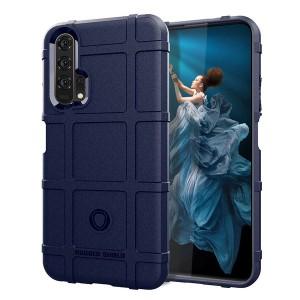 Силиконовый матовый непрозрачный чехол с текстурным покрытием Клетка для Huawei Honor 20/20 Pro Синий