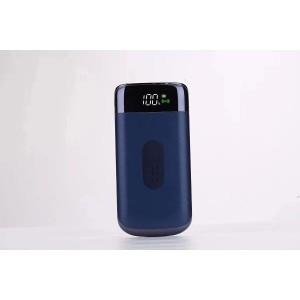 Портативное зарядное устройство 10000 mAh с 2-я USB разъемами (5V/2.1А), LCD-экраном, функцией беспроводной зарядки и LED-фонариком Синий