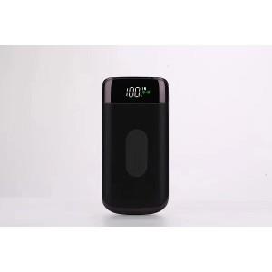 Портативное зарядное устройство 10000 mAh с 2-я USB разъемами (5V/2.1А), LCD-экраном, функцией беспроводной зарядки и LED-фонариком Черный