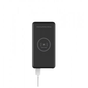 Портативное зарядное устройство 10000 mAh (5В, 2А) с LED-индикацией заряда и функцией беспроводной зарядки Черный