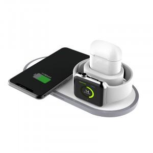 Беспроводное зарядное устройство для одновременной зарядки Apple Watch, AirPods и iPhone