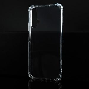 Силиконовый глянцевый транспарентный чехол с усиленными углами для Huawei Honor 20