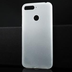 Силиконовый матовый полупрозрачный чехол для Huawei Honor 7A Pro/7C/Y6 Prime (2018) Белый
