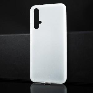 Силиконовый матовый полупрозрачный чехол для Huawei Honor 20 Белый