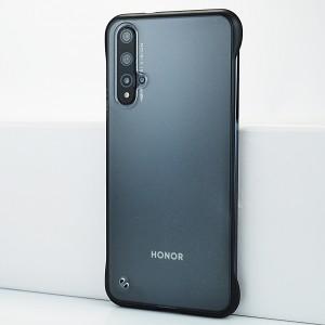 Пластиковый полупрозрачный ультратонкий чехол для Huawei Honor 20 Черный