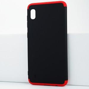 Двухкомпонентный сборный двухцветный пластиковый матовый чехол для Samsung Galaxy A10 Красный