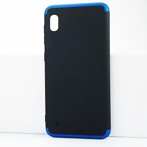 Двухкомпонентный сборный двухцветный пластиковый матовый чехол для Samsung Galaxy A10 Синий