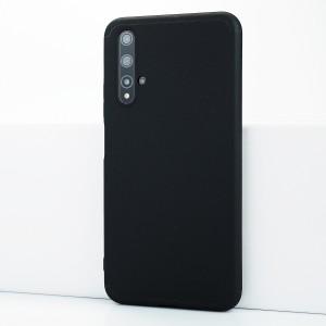 Двухкомпонентный сборный пластиковый матовый чехол для Huawei Honor 20 Черный