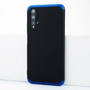 Двухкомпонентный сборный двухцветный пластиковый матовый чехол для Huawei Honor 20 Синий