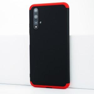 Двухкомпонентный сборный двухцветный пластиковый матовый чехол для Huawei Honor 20 Красный