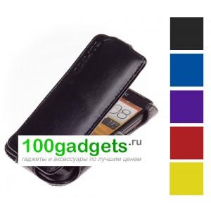 Чехол кожаный книжка вертикальная для HTC One V T320E
